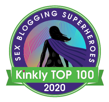 "Kinkly ""sex blogging superheroes"" badge for 2020."